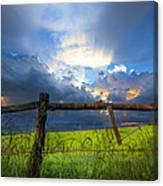 The Fence At Cades Cove Canvas Print