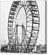 The Ferris Wheel At The Worlds Columbian Exposition Of 1893 In Chicago Bw Photo Canvas Print