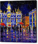 The Festival Of Lights In Lyon France Canvas Print