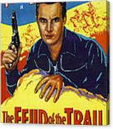 The Feud Of The Trail, Us Poster, Tom Canvas Print