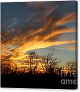 The Fiery Sky Canvas Print