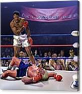 The Fight Of The Century - June 28 1971 C-vs-us Canvas Print