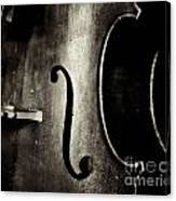 The Figure Of A Cello Canvas Print