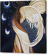 The Final Eclipse Before The Millenium Hand Embroidery  Canvas Print