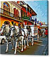The Final Ride Painted Canvas Print