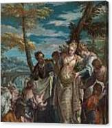 The Finding Of Moses Canvas Print