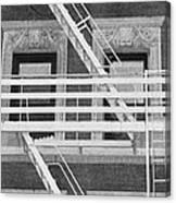 The Fire Escape In Black And White Canvas Print