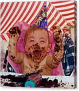 The First Birthday Cake Canvas Print