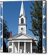 The First Church Of Evans In New York State Canvas Print