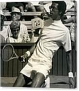 The First Dai Of The Wimbeddon Tennis Tournament Arthur Canvas Print