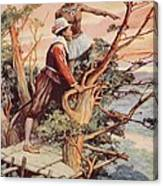 The First Englishman To See The Pacific Canvas Print