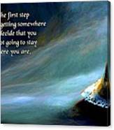 The First Step Canvas Print