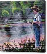 The Fishing Boy Canvas Print