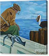 The Fishing Buddies Canvas Print