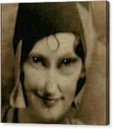 The Flapper's Secret Canvas Print
