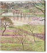 The Flood At Eragny Canvas Print