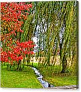 The Flow Of Autumn Canvas Print