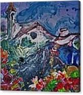 The Flower Peddler Canvas Print