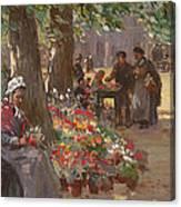 The Flower Seller Canvas Print