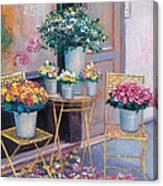 The Flower Shop Paris Canvas Print