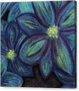 The Flowers Are Blue Canvas Print