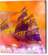 The Flying Dutchman Ghost Ship Canvas Print