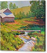 The Foot Bridge Canvas Print