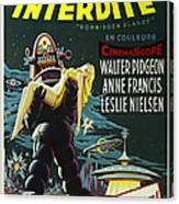 The Forbidden Planet Vintage Movie Poster Canvas Print