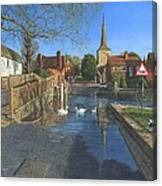 The Ford At Eynsford Kent Canvas Print