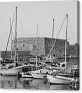 The Fortress And The Port In Iraklio City Canvas Print