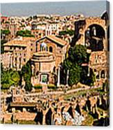 The Forum From The Palatine Canvas Print