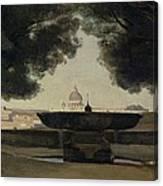 The Fountain Of The French Academy In Rome, 1826-27 Oil On Canvas Canvas Print