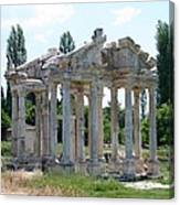 The Four Roman Columns Of The Ceremonial Gateway  Canvas Print