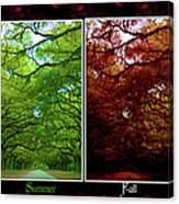 The Four Seasons- Featured In Comfortable Art And Newbies Groups Canvas Print