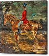 The Fox Hunt With Light Antique Store Mural Griffin Georgia Art Canvas Print