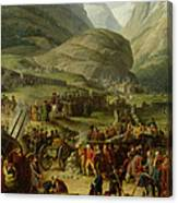 The French Army Travelling Over The St. Bernard Pass At Bourg St. Pierre, 20th May 1800, 1806 Oil Canvas Print