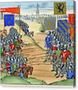 The French Defeat The Flemish Canvas Print
