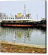 The Friesland In Enkhuizen Harbor-netherlands Canvas Print