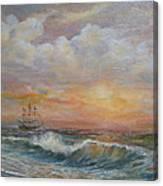 Sunlit  Frigate Canvas Print