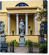 The Front Of The Telfair Museum Of Art Canvas Print