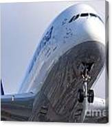 The Front Office Lufthansa Airbus A-380 Canvas Print