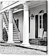 The Front Porch - Bw Canvas Print