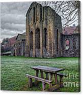 The Frosty Bench Canvas Print