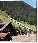 The Funicular In Murren Canvas Print