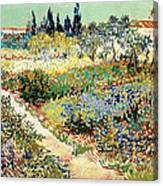 The Garden At Arles, 1888 Canvas Print