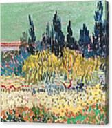 The Garden At Arles, Detail Canvas Print