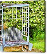 The Garden Bench In Spring  Canvas Print