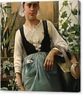 The Garden Girl Canvas Print