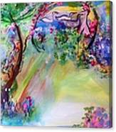 The Garden Grew More Beautiful As Did She Canvas Print