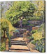 The Garden Stairs Canvas Print